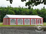 Partyzelt Exclusive 6x10m PVC, Rot/Weiß - 9