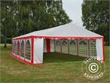 Partyzelt Exclusive 6x10m PVC, Rot/Weiß - 11