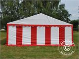 Partyzelt Exclusive 6x10m PVC, Rot/Weiß - 12