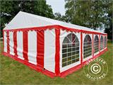 Partyzelt Exclusive 6x10m PVC, Rot/Weiß - 13