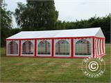 Partyzelt Exclusive 6x10m PVC, Rot/Weiß - 14