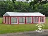Partyzelt Exclusive 6x10m PVC, Rot/Weiß - 15