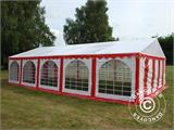 Partyzelt Exclusive 6x10m PVC, Rot/Weiß - 16