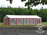 Partyzelt Exclusive 6x10m PVC, Rot/Weiß - 17
