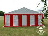 Partyzelt Exclusive 6x10m PVC, Rot/Weiß - 18
