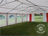 Partyzelt Exclusive 6x10m PVC, Rot/Weiß - 19