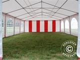 Partyzelt Exclusive 6x10m PVC, Rot/Weiß - 20