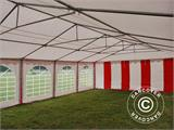 Partyzelt Exclusive 6x10m PVC, Rot/Weiß - 21