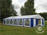 Marquee Exclusive 6x12 m PVC, Blue/White - 1