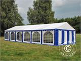 Marquee Exclusive 6x12 m PVC, Blue/White - 4