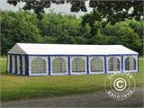 Marquee Exclusive 6x12 m PVC, Blue/White - 6