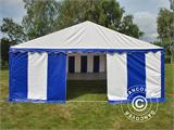 Marquee Exclusive 6x12 m PVC, Blue/White - 7