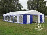 Marquee Exclusive 6x12 m PVC, Blue/White - 8