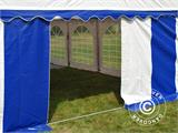 Marquee Exclusive 6x12 m PVC, Blue/White - 10