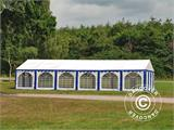 Marquee Exclusive 6x12 m PVC, Blue/White - 11
