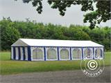 Marquee Exclusive 6x12 m PVC, Blue/White - 12