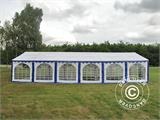 Marquee Exclusive 6x12 m PVC, Blue/White - 15