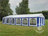 Marquee Exclusive 6x12 m PVC, Blue/White - 16