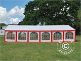Marquee Exclusive 6x12 m PVC, Red/white - 1
