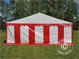 Marquee Exclusive 6x12 m PVC, Red/white - 2