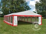 Marquee Exclusive 6x12 m PVC, Red/white - 4