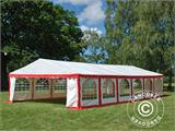Marquee Exclusive 6x12 m PVC, Red/white - 5