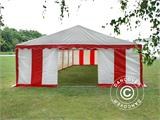 Marquee Exclusive 6x12 m PVC, Red/white - 6
