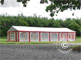 Marquee Exclusive 6x12 m PVC, Red/white - 7