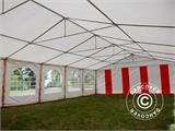 Marquee Exclusive 6x12 m PVC, Red/white - 8