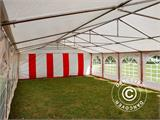 Marquee Exclusive 6x12 m PVC, Red/white - 9