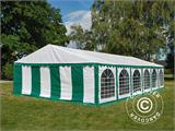 Marquee Exclusive 6x12 m PVC, Green/White - 2