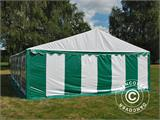Marquee Exclusive 6x12 m PVC, Green/White - 3