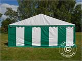 Marquee Exclusive 6x12 m PVC, Green/White - 9