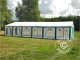 Marquee Exclusive 6x12 m PVC, Green/White - 11
