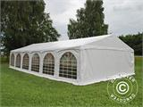 "Partytelt Exclusive 6x12m PVC, ""Arched"", Hvit - 4"