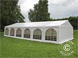 "Partytelt Exclusive 6x12m PVC, ""Arched"", Hvit - 5"