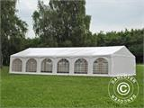"Partytelt Exclusive 6x12m PVC, ""Arched"", Hvit - 6"
