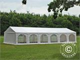 "Partytelt Exclusive 6x12m PVC, ""Arched"", Hvit - 7"