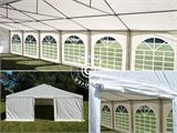 "Partytelt Exclusive 6x12m PVC, ""Arched"", Hvit - 11"