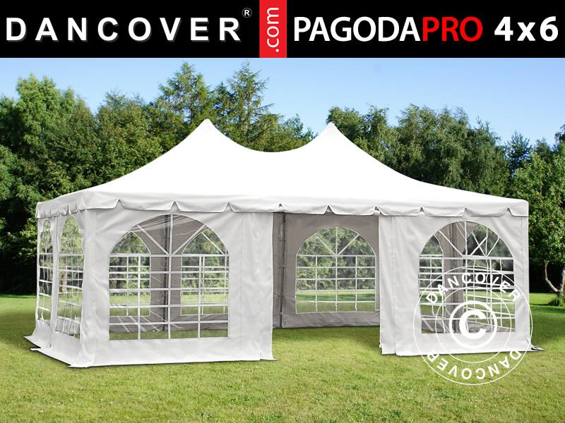 partyzelt 4x6 m pvc pavillon pagoden festzelt gartenzelt. Black Bedroom Furniture Sets. Home Design Ideas
