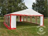 Tente de réception Original 6x8m PVC, Rouge/Blanc - 5