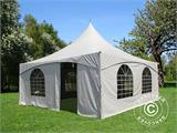 Pagoda Marquee PartyZone 5x5 m, PVC, White - 1