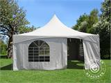 Pagoda Marquee PartyZone 5x5 m, PVC, White - 7