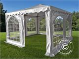 Pagodetent Exclusive 4x4m PVC, Wit - 1