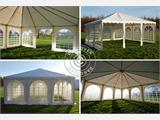 Partytent Exclusive 7x7m PVC, Wit - 12