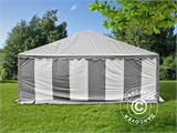 Marquee Exclusive 6x12 m PVC, Grey/White - 4