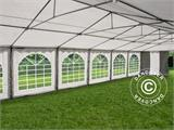 Marquee Exclusive 6x12 m PVC, Grey/White - 7