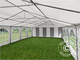 Marquee Exclusive 6x12 m PVC, Grey/White - 10