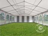 Marquee Exclusive 6x12 m PVC, Grey/White - 11