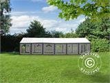 Marquee Exclusive 6x12 m PVC, Grey/White - 12